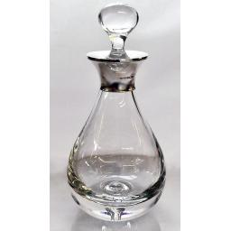 Teardrop Decanter with Sterling Silver Mount