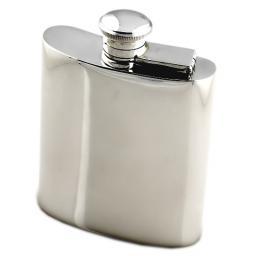 Sterling Silver Hip Flask - Kidney