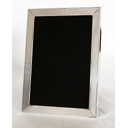 Sterling Silver Photo Frame with Barley Engine Turned Pattern