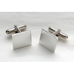 Square Sterling Silver Cufflinks.