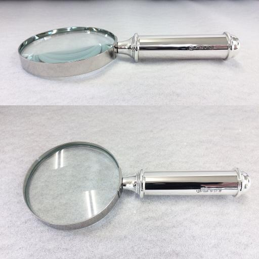 Sterling Silver Straight Magnifying Glass Handle