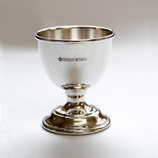 Silver Egg Cup, Spoon and Napkin Ring in Gift Box