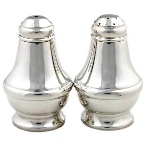 Large Sterling Silver Salt and Pepper Set