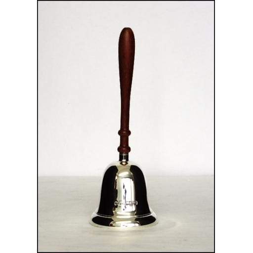 Sterling Silver Dinner Bell with wooden handle