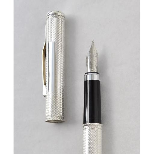 The Pulse Fountain Pen with engine turned Pattern