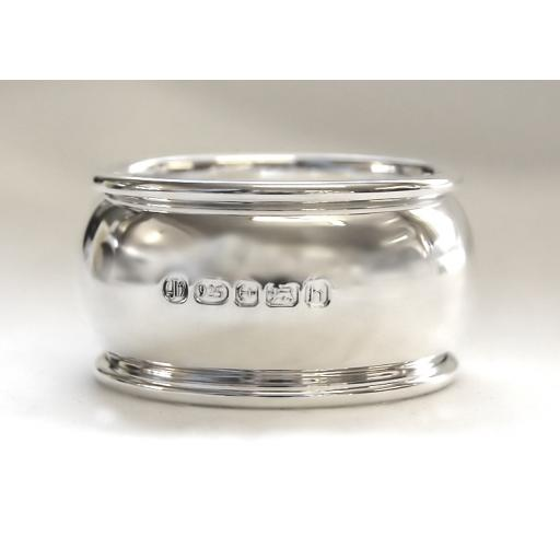 Sterling Silver Convex Napkin Ring