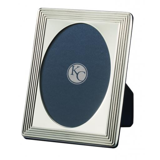 Traditional Milled Oval Photo Frame - Sterling Silver
