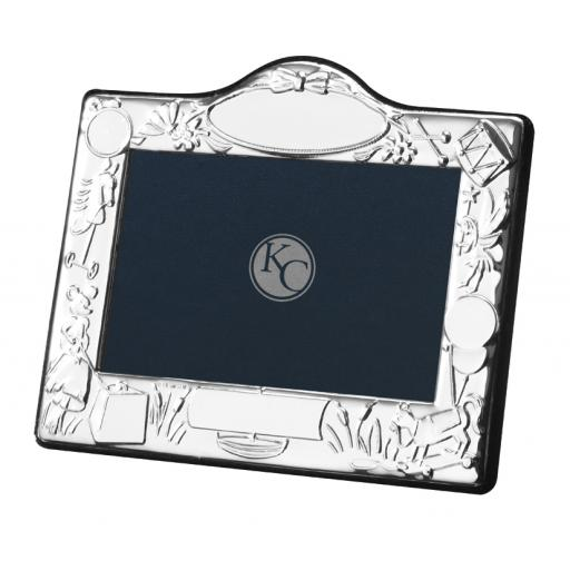Drum and Horse Nursery Photo Frame - Sterling Silver